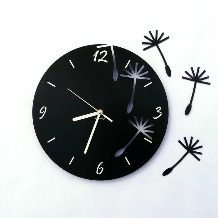Dekoracyjny zegar ścienny Urlik Design Dmuchawce ◾ ◾ PrezentBox