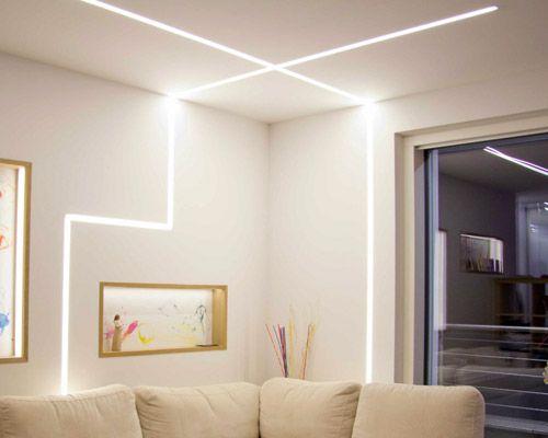 Oltre 25 fantastiche idee su illuminazione soggiorno su - Illuminazione soggiorno led ...