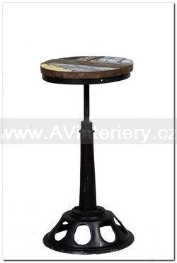 Barová židle HPEX0012, industriální nábytek | AV interiéry