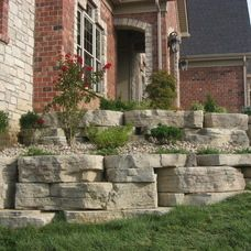 Transitional Exterior by Midwest Block & Brick