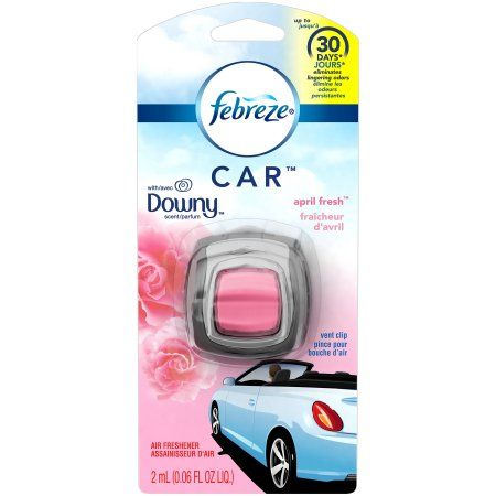 Febreze CAR Air Freshener with Downy April Fresh (1 Count, 0.06 oz)