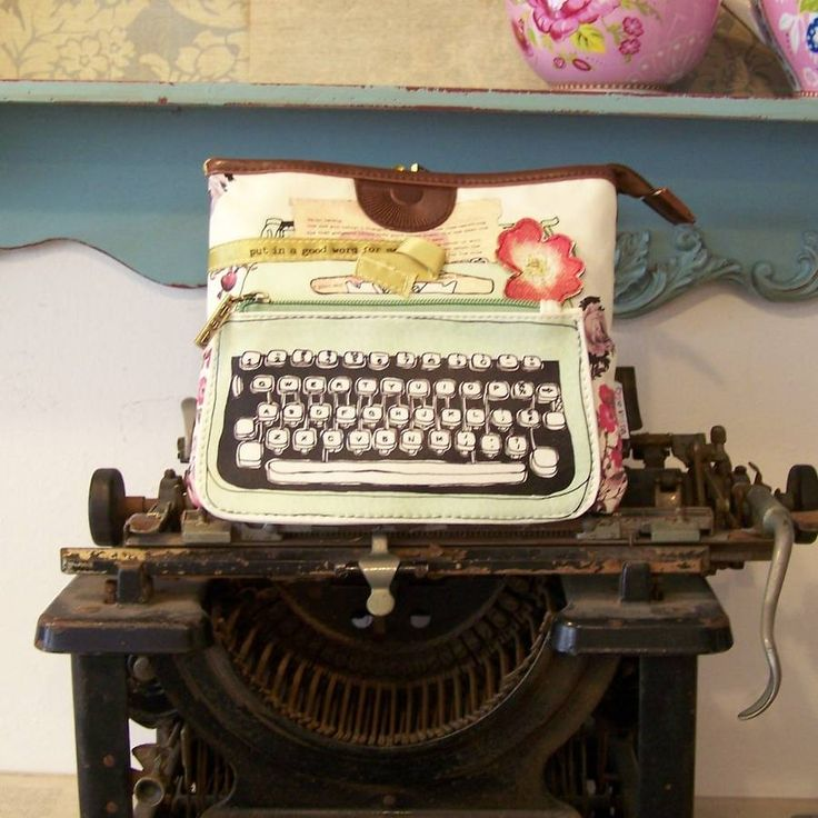 typewriter make up bag by bluebelle and co   notonthehighstreet.com