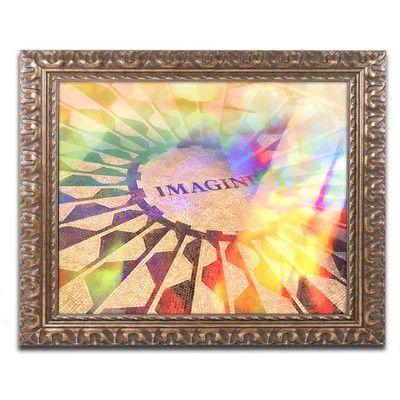 Trademark Art 'Imagine Colors' by Adam Kadmos Framed Painting Print Size: 1