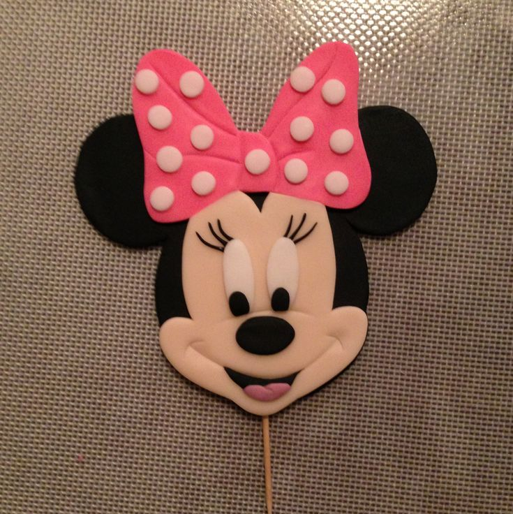 How To Make A Minnie Mouse Fondant Cake Topper