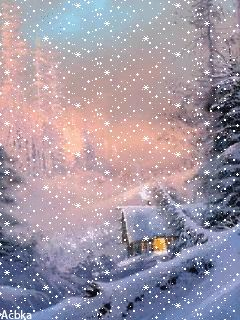 Download Animated 240x320 «зимний снегопад» Cell Phone Wallpaper. Category: Nature