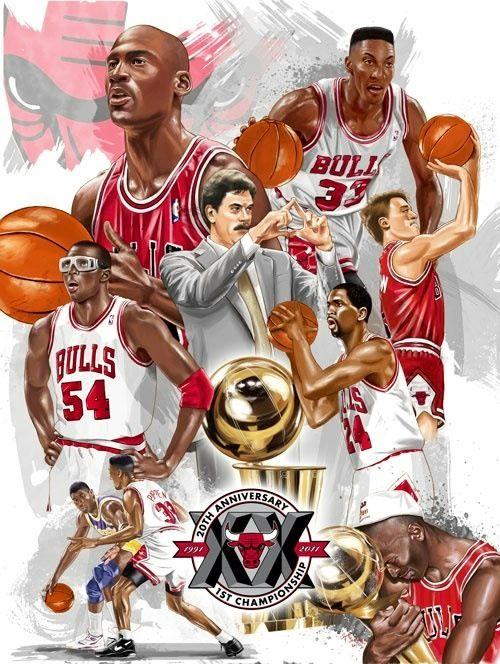 MJ n Bulls Art