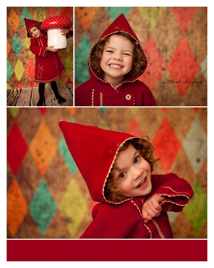 What a gorgeous little red riding hood!