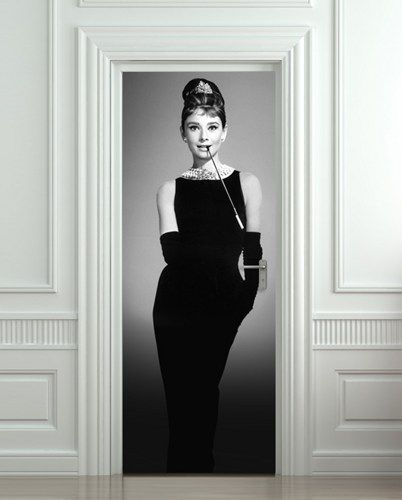 Wall Door NOT sticky paper poster audrey hepburn by Pulaton