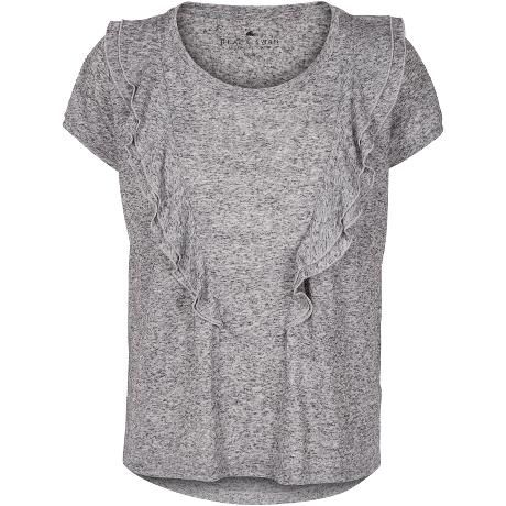 July top. Lovely top in soft grey melange with pretty flares in front.