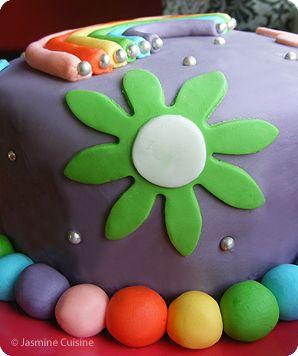 "Jasmine Cuisine: Gâteau d'anniversaire ""Girly"" au fondant"