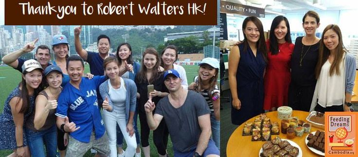 On October 14th, the Robert Walters HK https://www.robertwalters.com.hk/ corporate fundraising day saw approximately $6,000USD raised for FDC. Through the means of breakfast & bake sales, auctions, raffle, golf games etc. the employee's at Robert Walters should be very proud of their considerate efforts. http://feedingdreamscambodia.org/