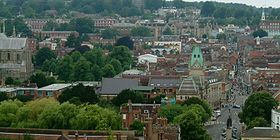 Winchester city centre from St Gilles's Hill