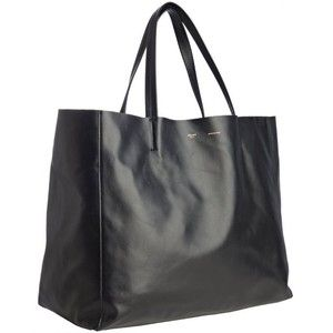 celine nano luggage bag - Celine Black Leather Large Tote Bag - C��LINE - Polyvore | bags ...