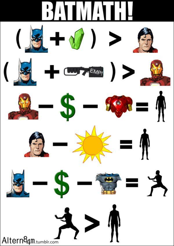 Batmath _ Batman vs Iron Man vs Superman
