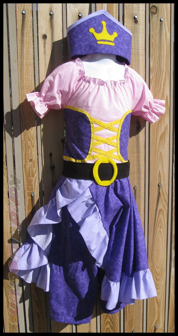 Pirate Princess Costume Inspired by Jake and the Neverland Pirates - Cotton Collection - Custom Order