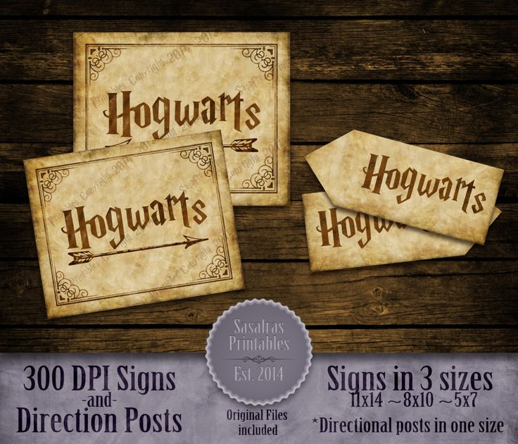 It's just an image of Accomplished Hogwarts Sign Printable