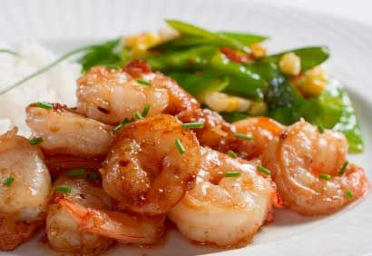 Sauté de crevettes et de légumes - coup de pouce