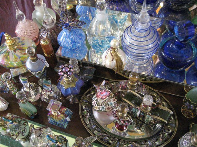 Grand Collection of Vintage Perfume Bottles