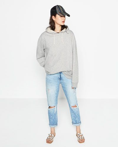 Image 1 of RELAXED-FIT RIPPED JEANS from Zara