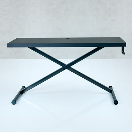 Holmris X-Table Skrivebord. Manuelt Justerbar. Sort