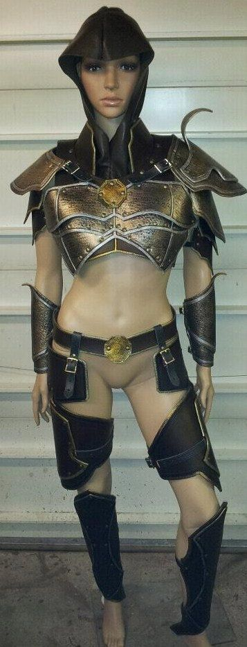 Demon Hunter Leather Armor Set by SharpMountainLeather on Etsy, $999.99