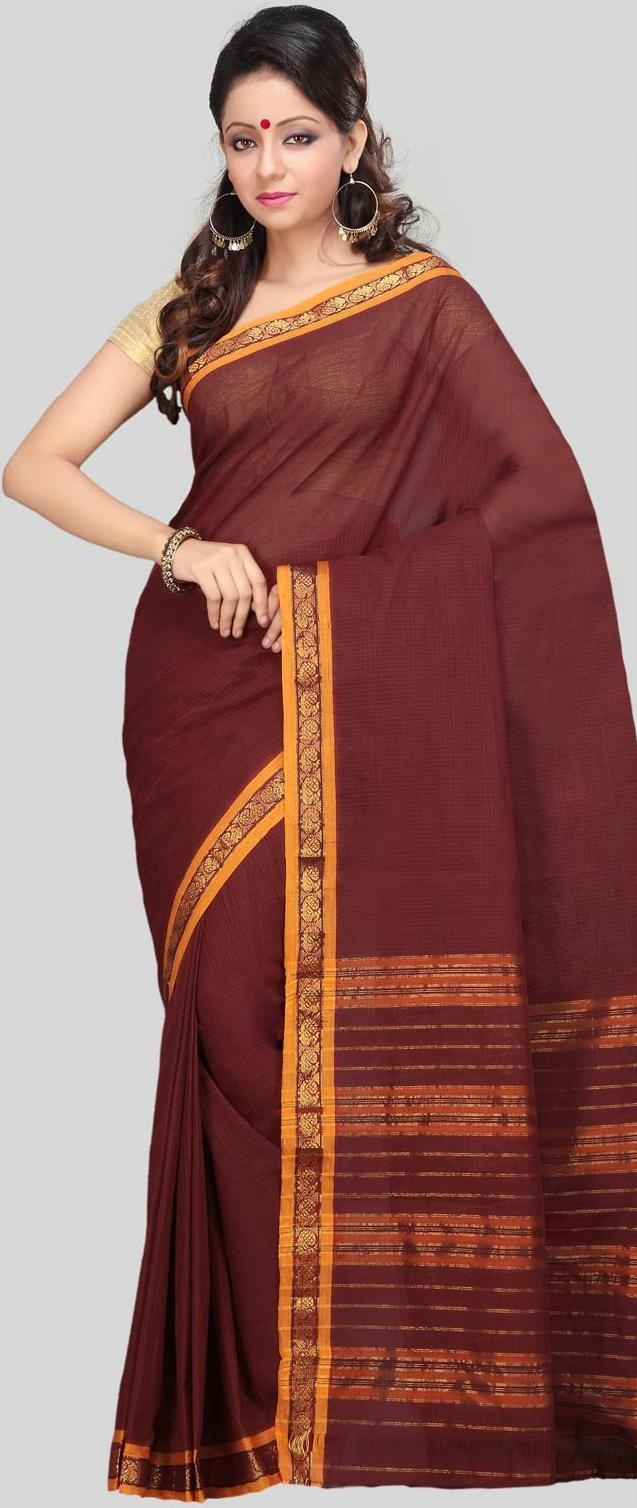 #Maroon Narayanpet Handloom #Cotton #Saree With #Blouse @ US $28.83