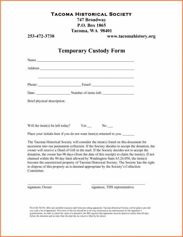 Temporary Guardianship Agreement Form Guardianship Legal Forms