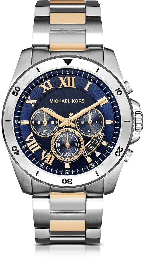 e7faa97a7649 Michael Kors Brecken Two-tone Stainless Steel Men s Chronograph Watch