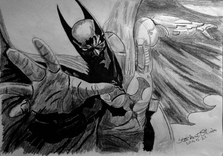 Batman A4 - graphite & fine markers #batman #drawing #pencildrawing #art