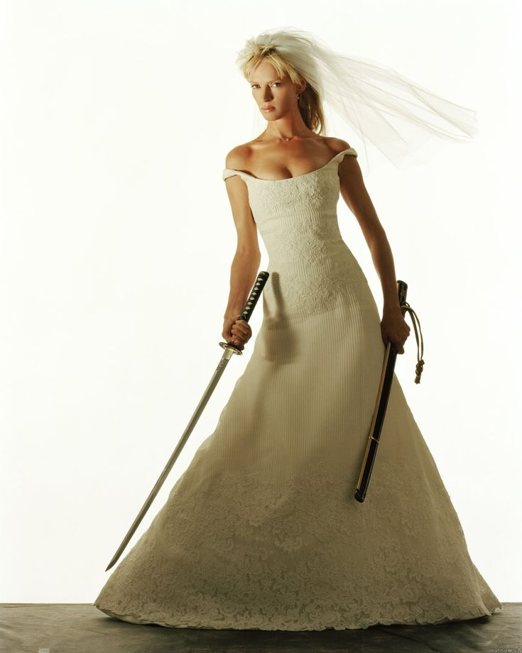 Uma Thurman In Wedding Dress Kill Bill Fashion In Film