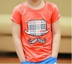 Orange Hat Beard T-shirt