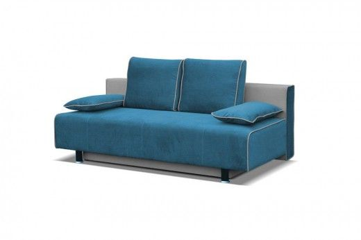 Pohovka Emma modrá je rozkládací s úložným prostorem