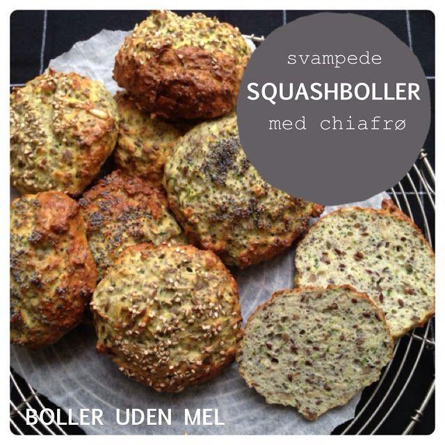 Boller uden mel - svampede squasboller med chiafrø -