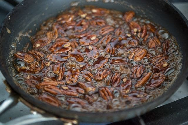 These Stovetop Candied Pecans are a quick and easy way to make sweet coated pecans for salads, snacking, and more!