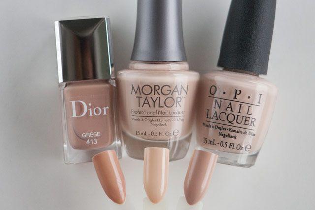 Dior Grege Morgan Taylor New School Nude OPI Don\u0027t Pretzel My Buttons