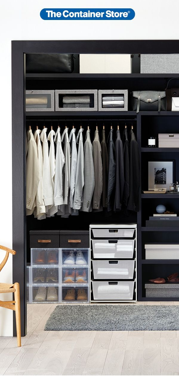 Men S Closet Organizers Easy Ways To Keep Him Organized Mens Closet Organization Men Closet Clothes Closet Organization