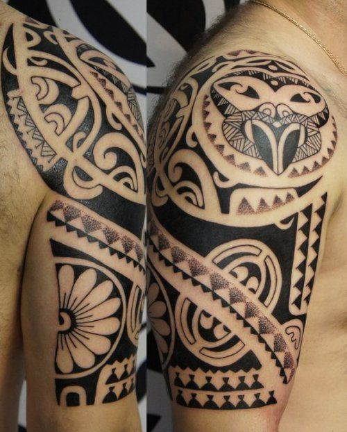 24 Tribal Shoulder Tattoo Designs Ideas: 25+ Best Ideas About Polynesian Leg Tattoo On Pinterest