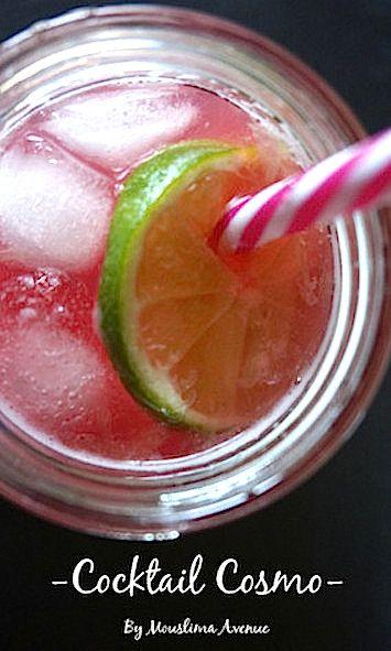 Cocktail sans alcool Cosmo - Recipe Ramadan - Recette Ramadan