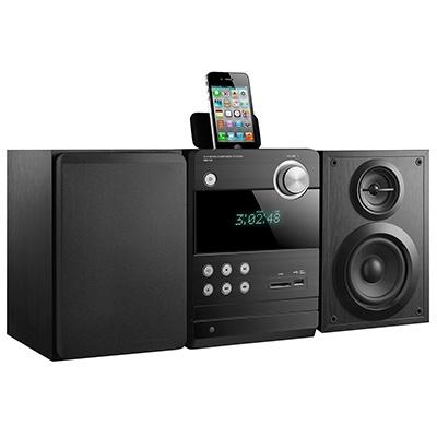 Turbo-X MHF-100 Mini Hi-Fi. Λειτουργία ως Docking Station για iPhone, θυρα USB & card reader, σύνδεση HDMI και ισχύς 50W.