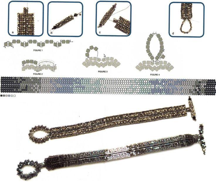 схема плетения браслетов из