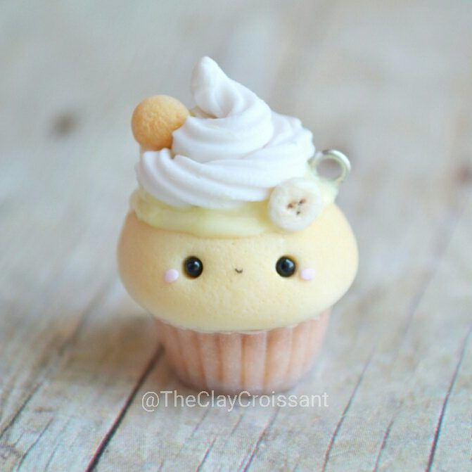 """2,684 Likes, 47 Comments - Meghan (@theclaycroissant) on Instagram: """"Banana Pudding Cupcake! Part of a recent custom order. I loved working on this one!  The base of…"""""""