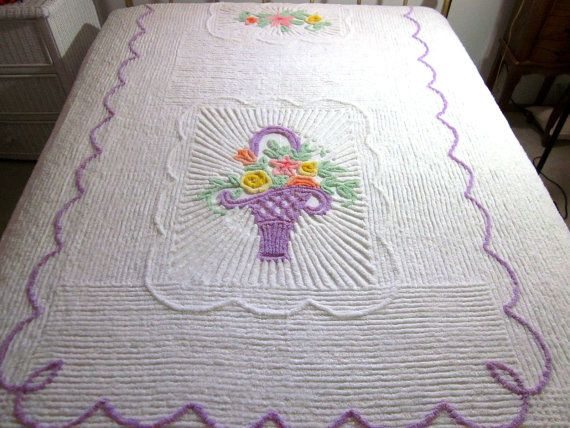 find this pin and more on chenille u0027em - Chenille Bedspreads