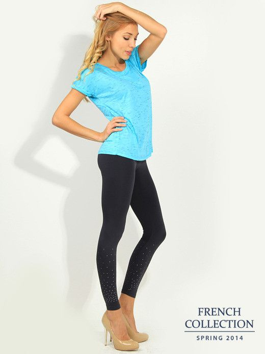T-shirt turkusowy Bluzki \ t-shirty French Collection \ Bluzki \ t-shirty Butik 133394