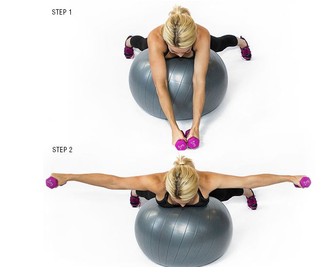 tone your ta-tas: reverse fly: this is a great workout to tighten your chest! It'll also help with the pesky arm flab you've been trying to cover up! If this is too tricky, you can try it without the weights and decrease your range of motion! thecreampiesurprise.com