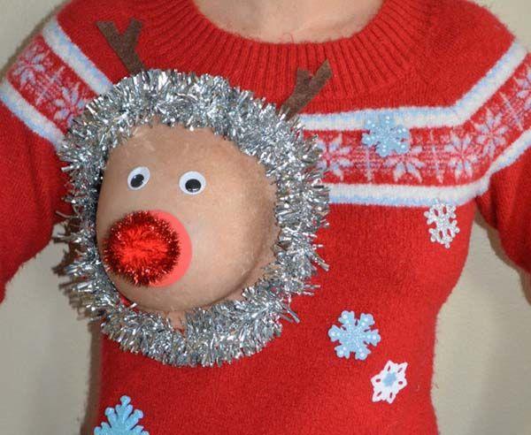 Jersey de Navidad para madres lactantes y mujeres en general » No Puedo Creer