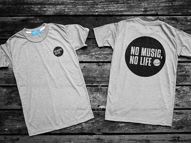 NO Music No Life / Music t-shirt, Music Clothing,Teen Shirt,Minimal…