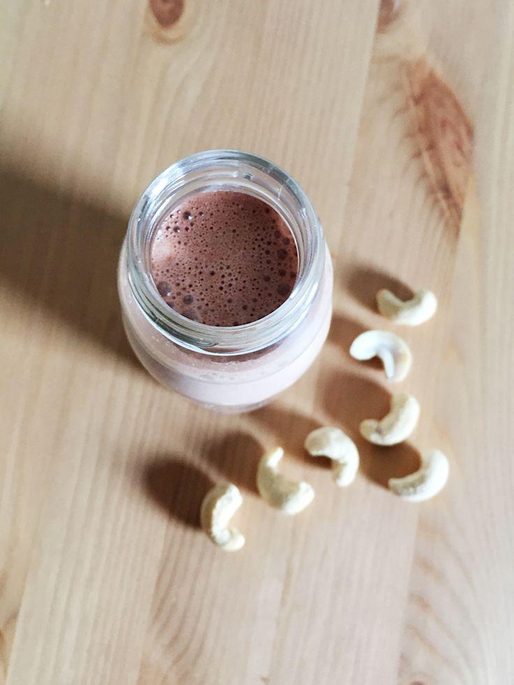 latte di anacardi al cioccolato * choco cashew milk #vegan #cashew #milk #anacardi #latte