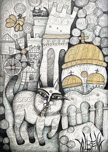 Рисунок - Деревни моего детства Албена Ватчева