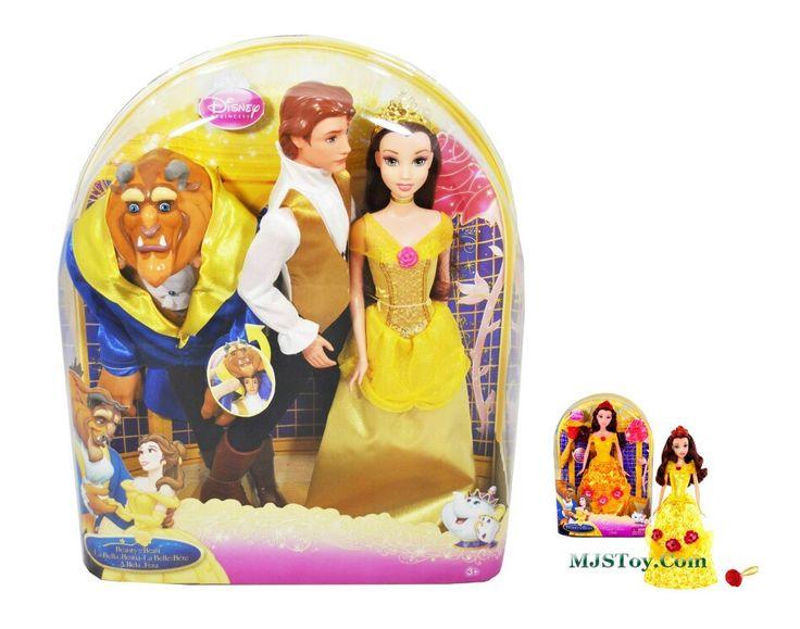 2010 Mattel Beauty & the Beast Doll 2 pck Prince Adam/Beast & Belle