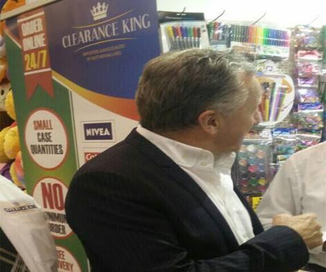 Christopher Edwards visiting Clearance King at Autumn Fair 2016  4-7 September 2016, #AutumnFair NEC Birmingham UK. #ChristopherEdwards #Wholesalers #Tradeshow #Exhibition #autumnfair2016